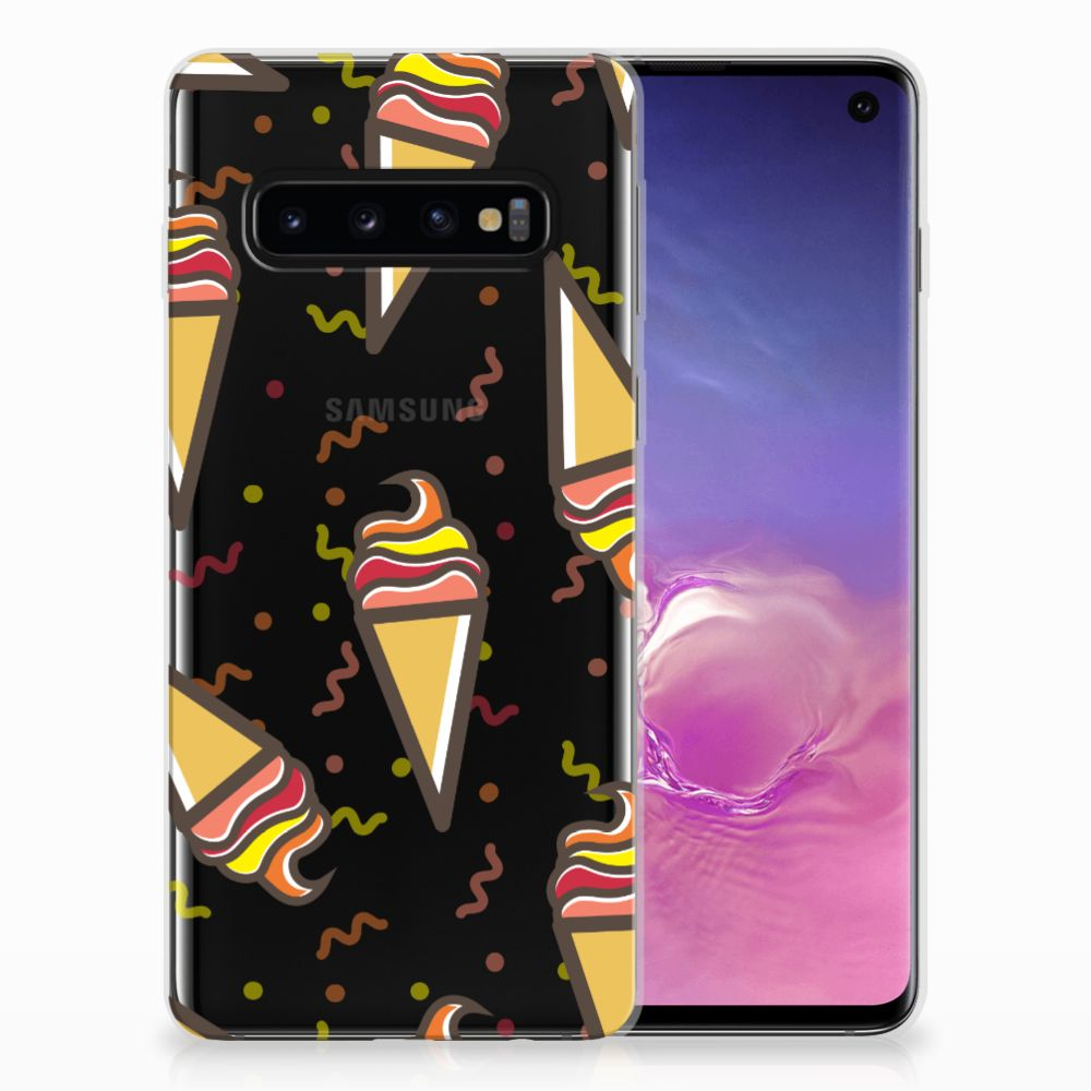 Samsung Galaxy S10 Siliconen Case Icecream