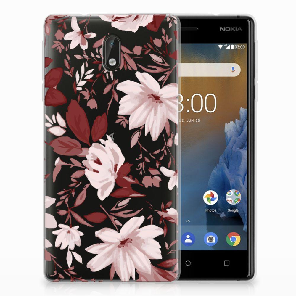 Nokia 3 Uniek TPU Hoesje Watercolor Flowers