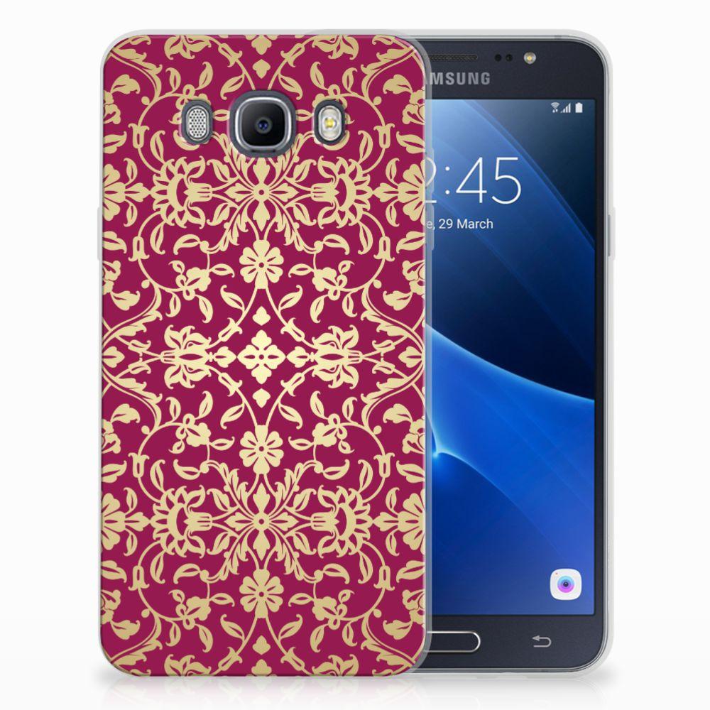 Siliconen Hoesje Samsung Galaxy J7 2016 Barok Pink