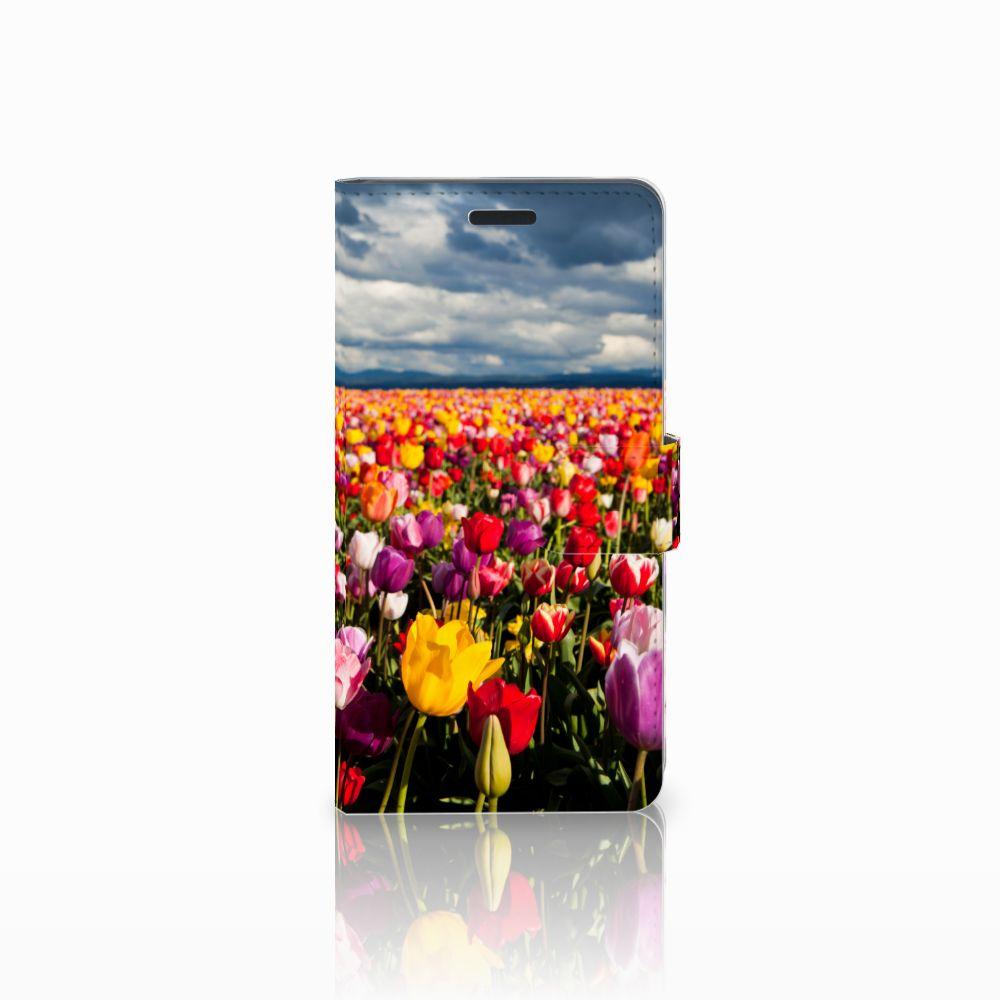 Samsung Galaxy A7 2015 Uniek Boekhoesje Tulpen