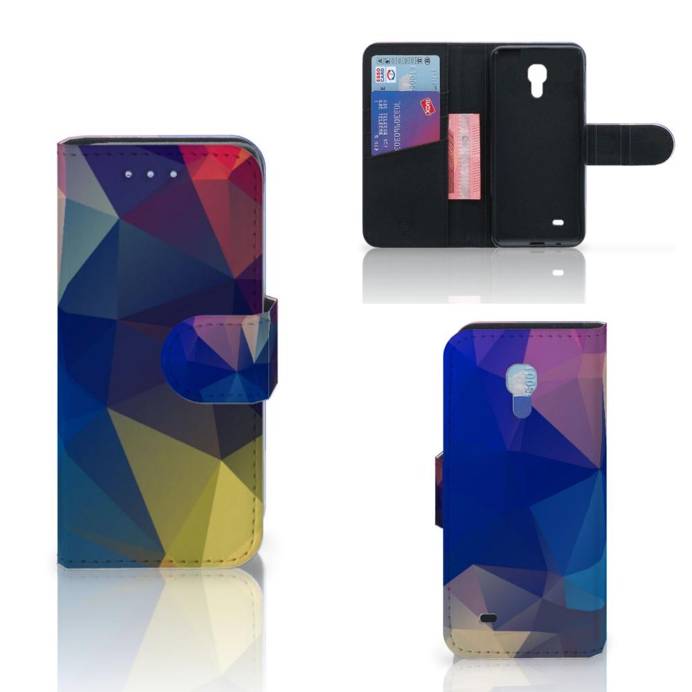 Samsung Galaxy S4 Mini i9190 Bookcase Polygon Dark