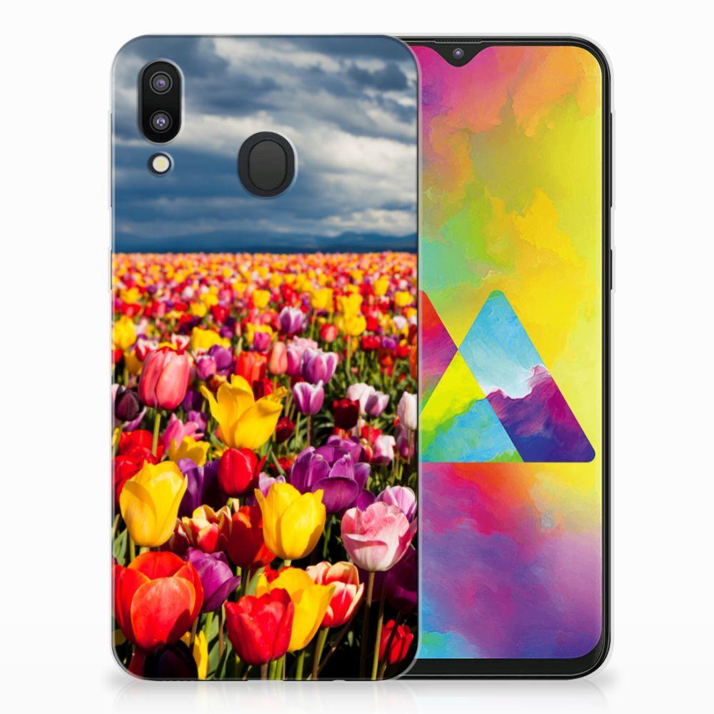 Samsung Galaxy M20 Uniek TPU Hoesje Tulpen