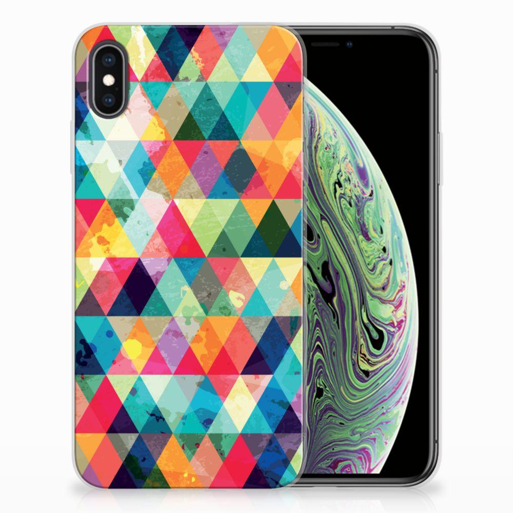 Apple iPhone Xs Max TPU bumper Geruit