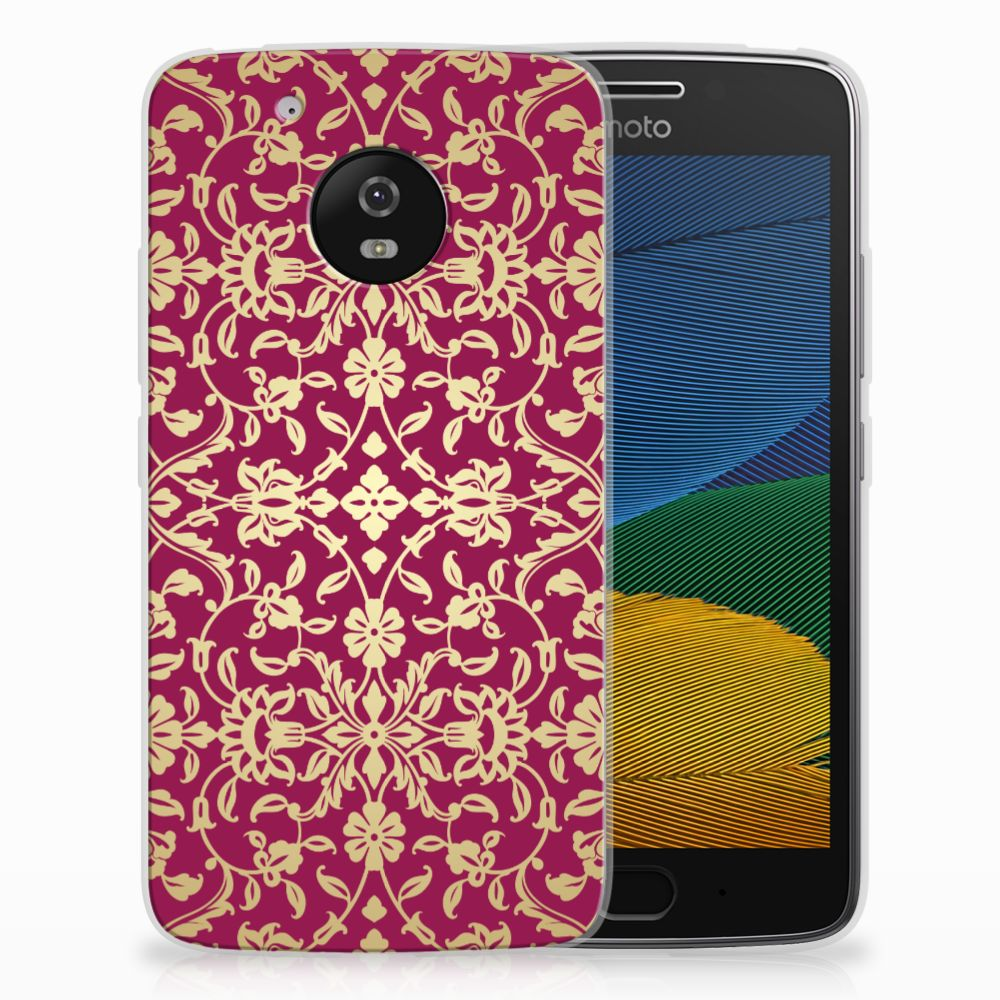 Siliconen Hoesje Motorola Moto G5 Barok Pink