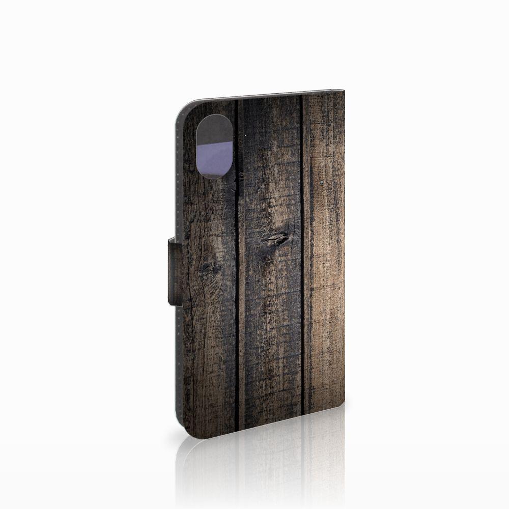 Apple iPhone X | Xs Boekhoesje Design Steigerhout