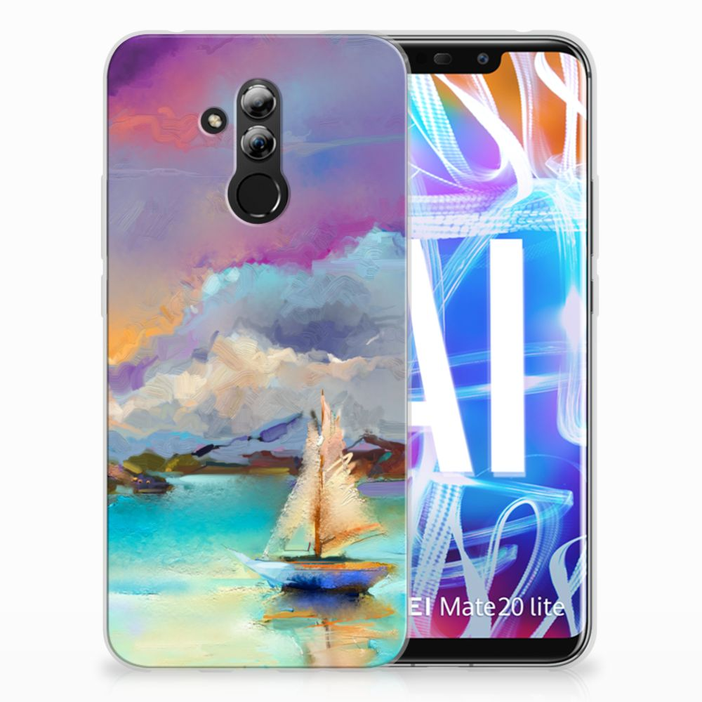 Huawei Mate 20 Lite Uniek TPU Hoesje Boat