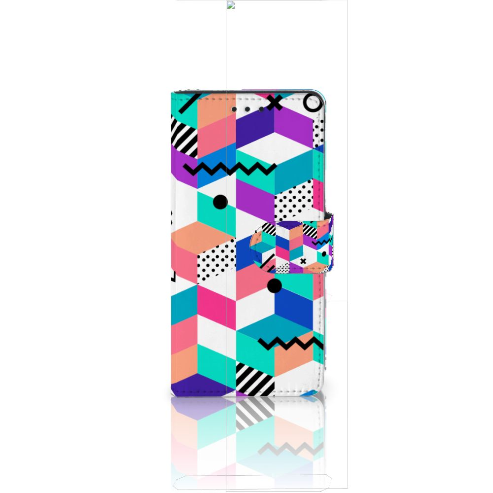 Huawei Ascend P8 Lite Boekhoesje Design Blocks Colorful