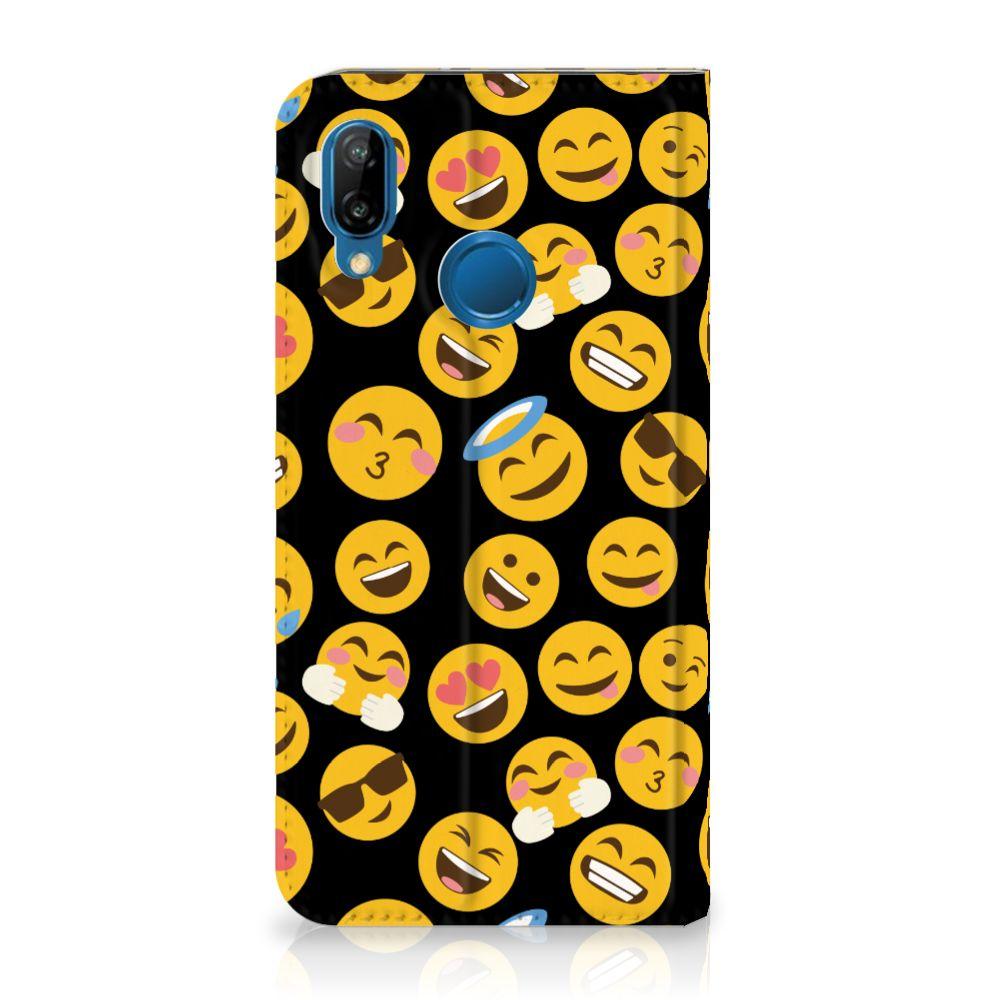 Huawei P20 Lite Standcase Hoesje Design Emoji