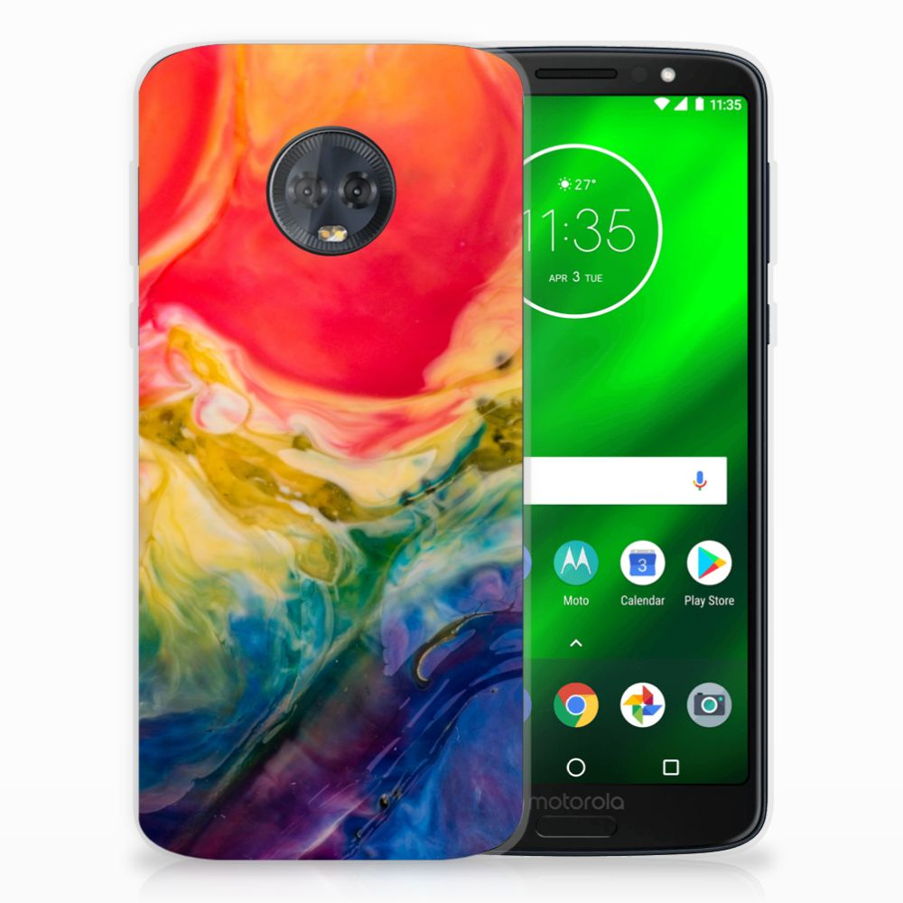 Hoesje maken Motorola Moto G6 Plus Watercolor Dark
