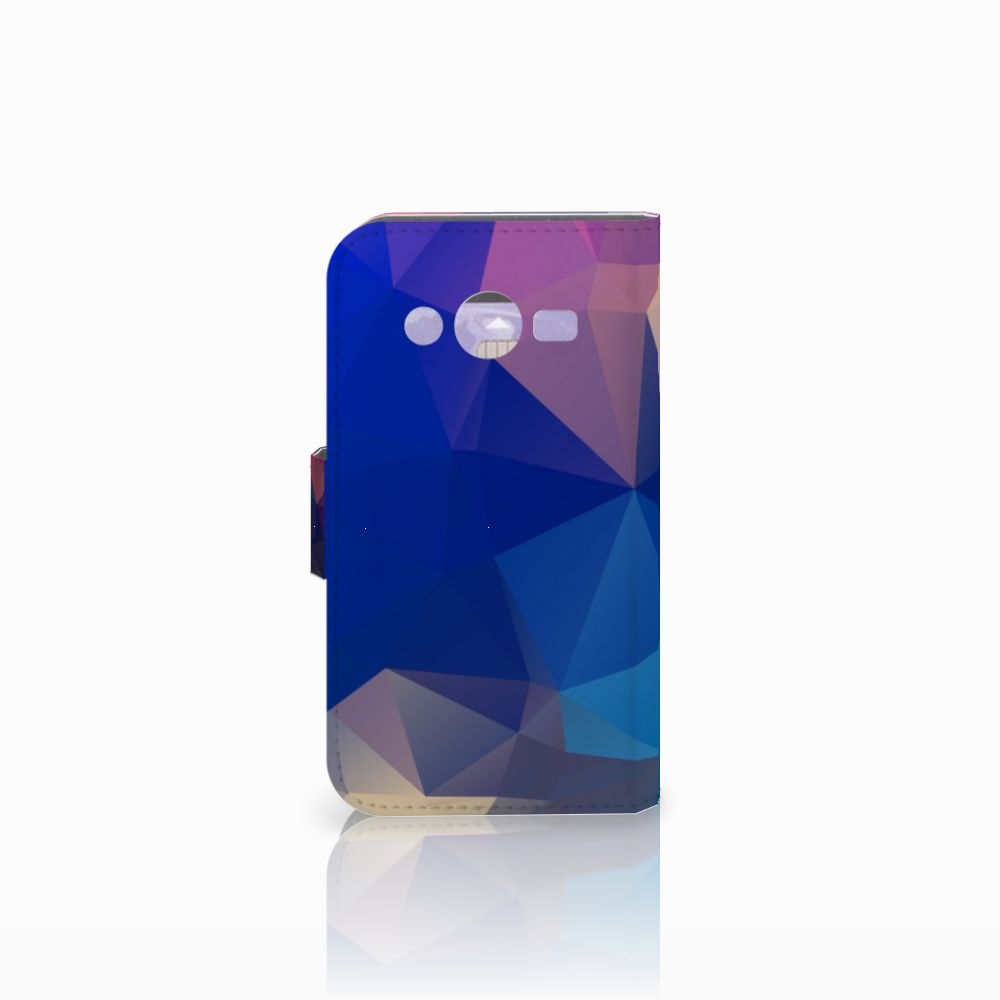 Samsung Galaxy Core 2 Bookcase Polygon Dark