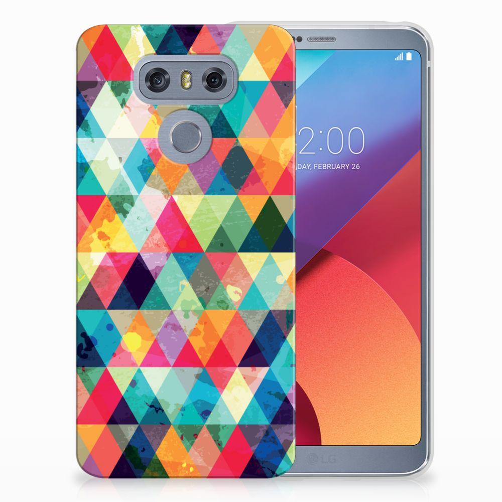 LG G6 Uniek TPU Hoesje Geruit