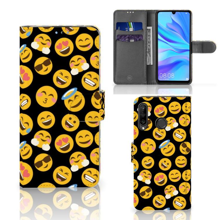 Huawei P30 Lite (2020) Telefoon Hoesje Emoji