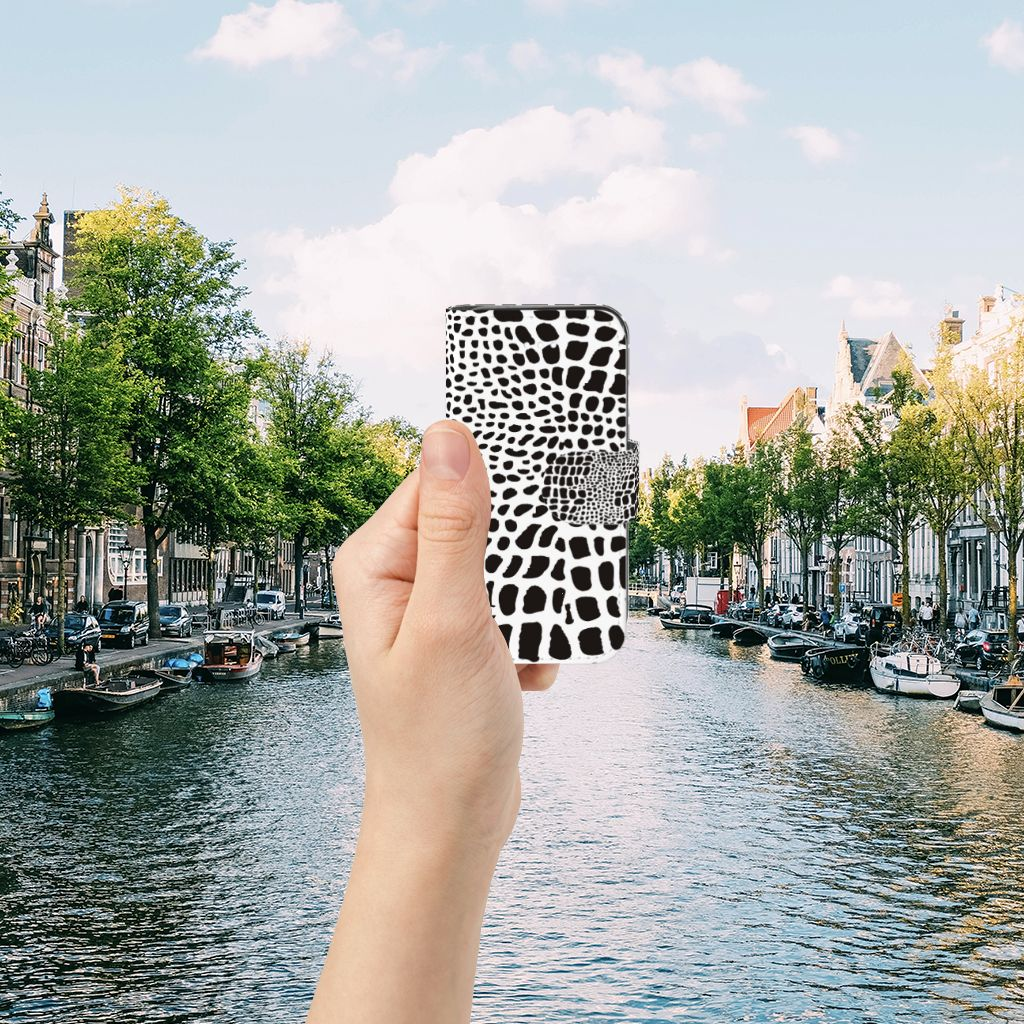 Apple iPhone 5 | 5s | SE Telefoonhoesje met Pasjes Slangenprint
