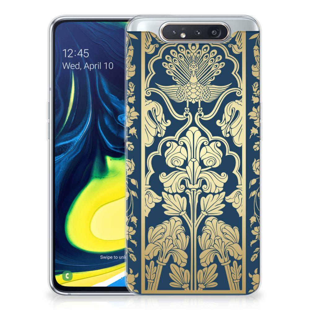 Samsung Galaxy A80 TPU Case Golden Flowers