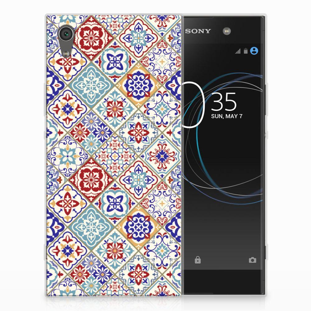 Sony Xperia XA1 Ultra Uniek TPU Hoesje Tiles Color
