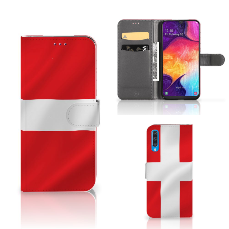 Samsung Galaxy A50 Bookstyle Case Denemarken