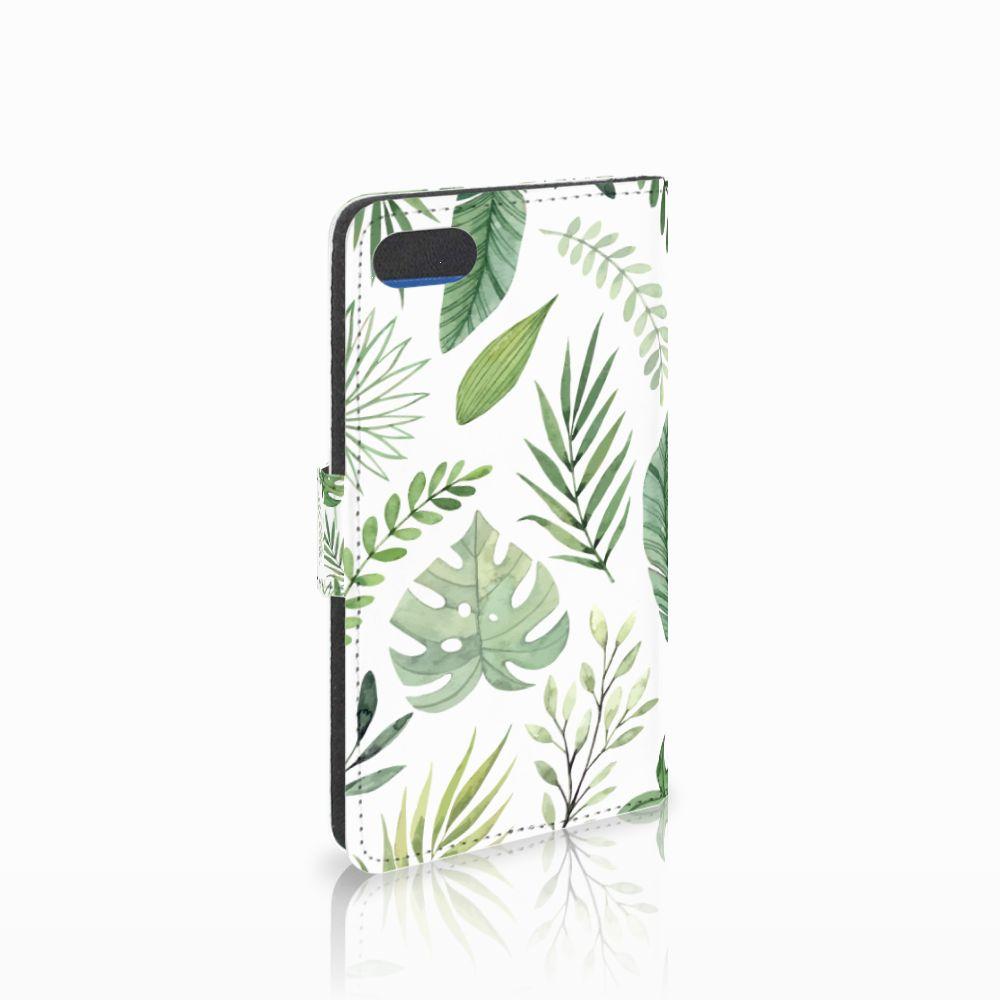 Huawei Y5 2018 Uniek Boekhoesje Leaves