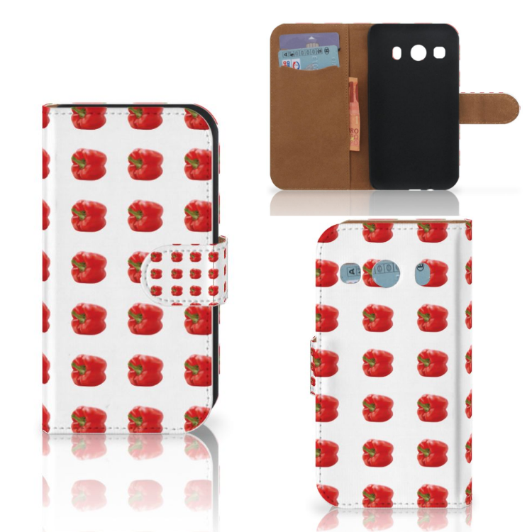 Samsung Galaxy Ace 4 4G (G357-FZ) Book Cover Paprika Red