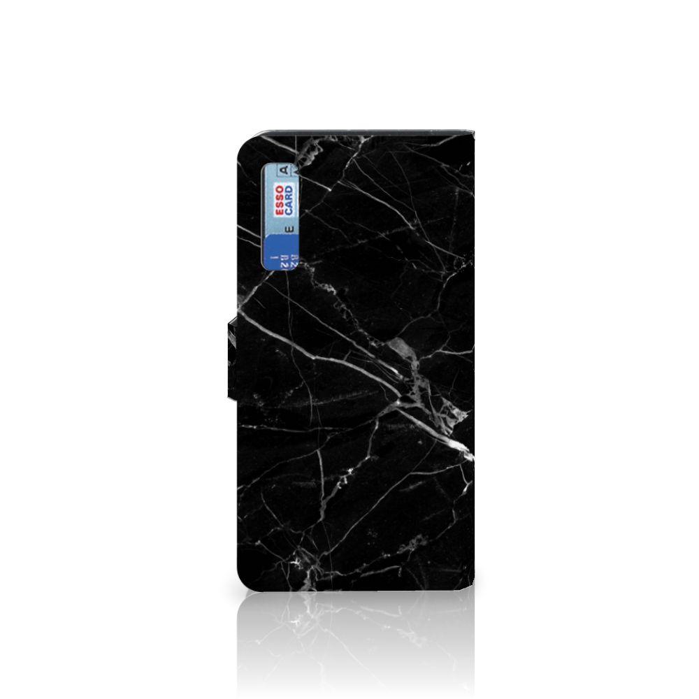 Samsung Galaxy A7 (2018) Bookcase Marmer Zwart