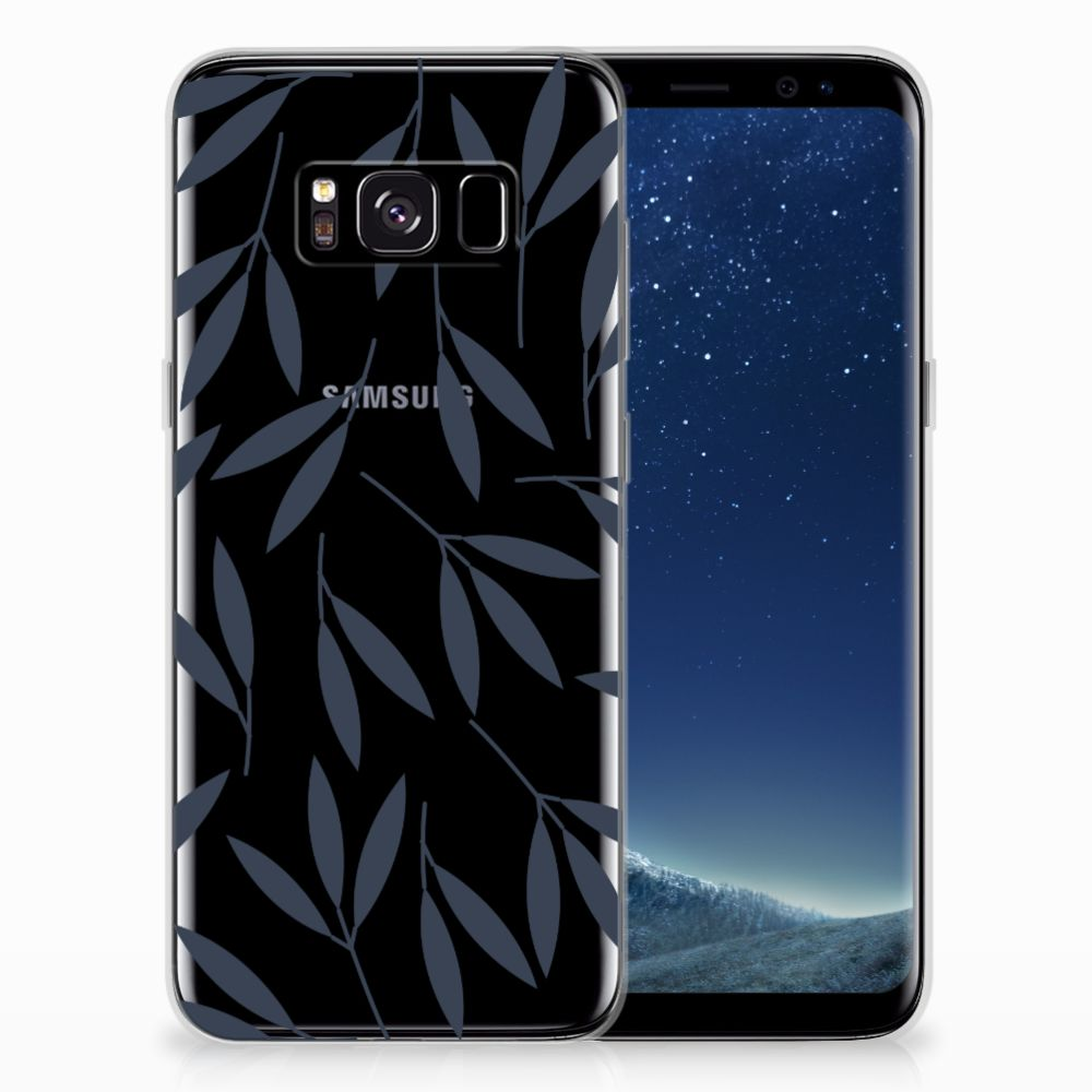 Samsung Galaxy S8 TPU Case Leaves Blue