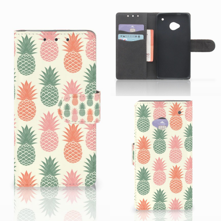 HTC One M7 Book Cover Ananas