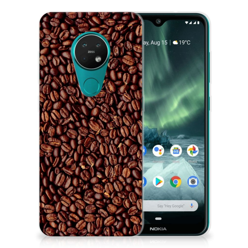 Nokia 7.2 | 6.2 Siliconen Case Koffiebonen