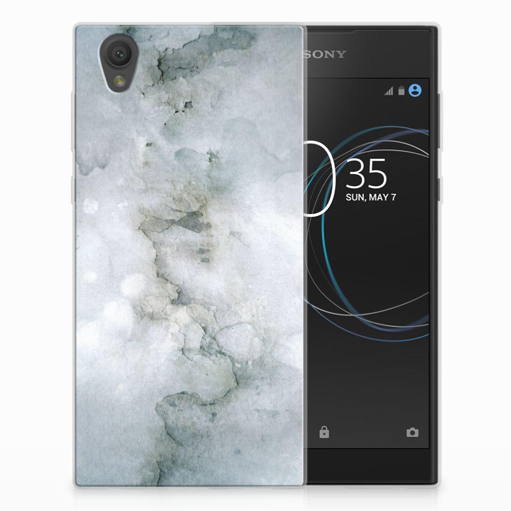 Sony Xperia L1 Uniek TPU Hoesje Painting Grey