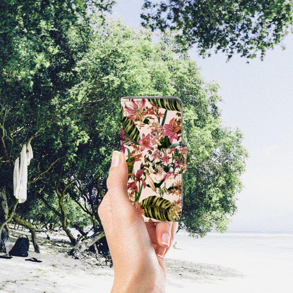 Apple iPod Touch 5 | 6 Uniek Boekhoesje Flowers