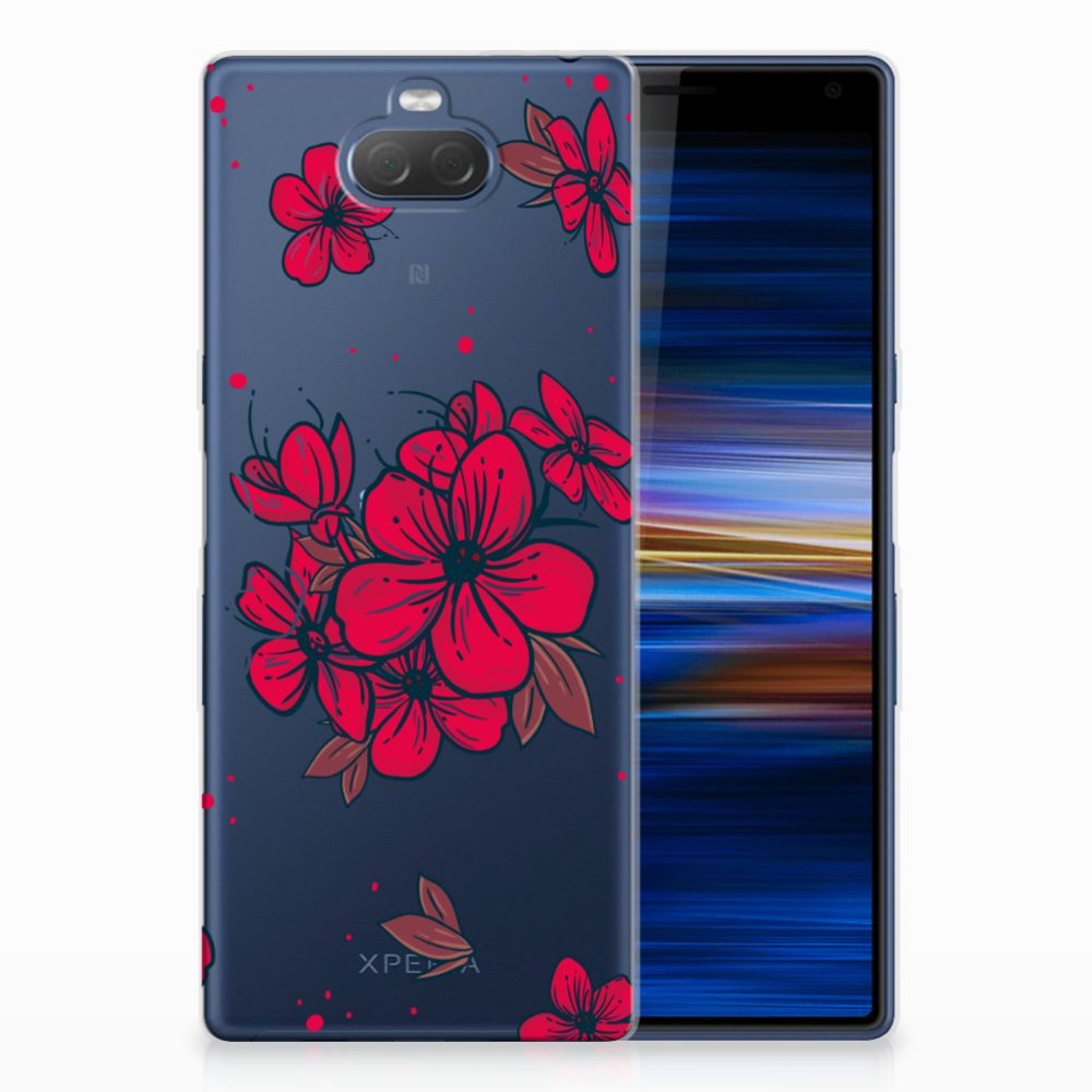 Sony Xperia 10 Plus TPU Hoesje Design Blossom Red