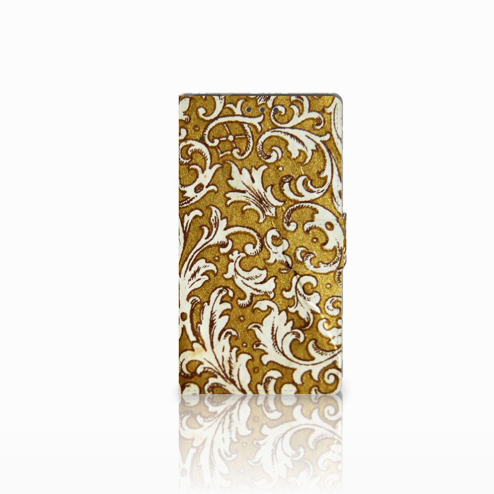 Samsung Galaxy Note 4 Boekhoesje Design Barok Goud