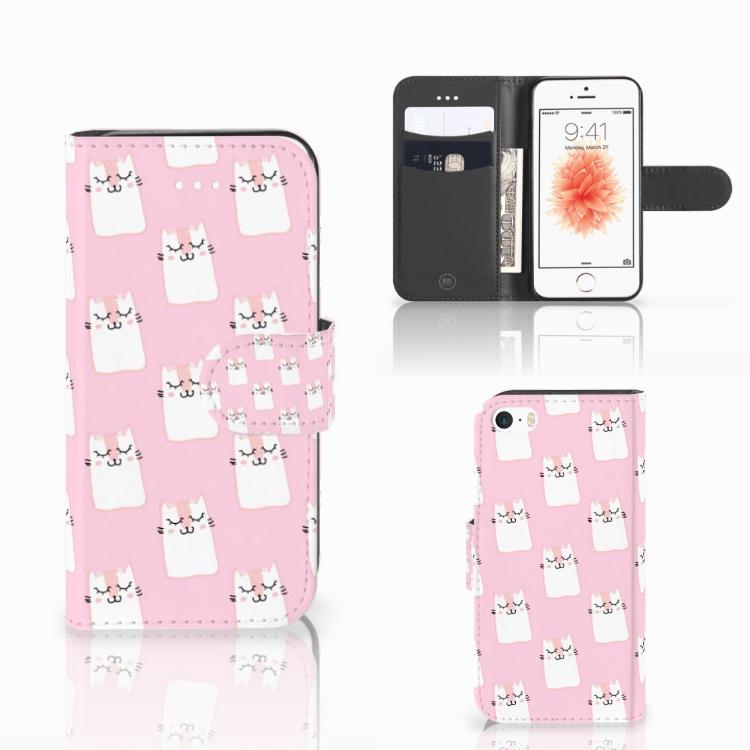 Apple iPhone 5 | 5s | SE Telefoonhoesje met Pasjes Sleeping Cats