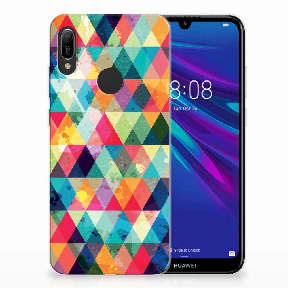 Huawei Y6 2019 | Y6 Pro 2019 Uniek TPU Hoesje Geruit