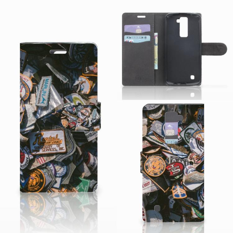 LG K10 2015 Telefoonhoesje met foto Badges
