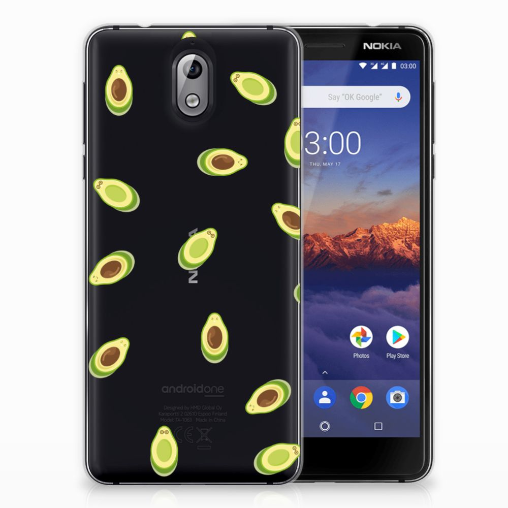 Nokia 3.1 (2018) Siliconen Case Avocado