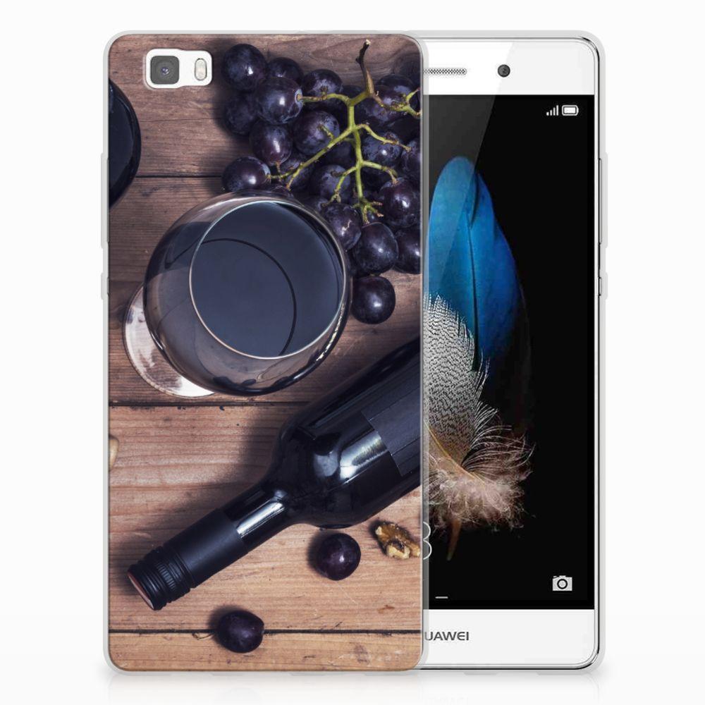 Huawei Ascend P8 Lite Uniek TPU Hoesje Wijn