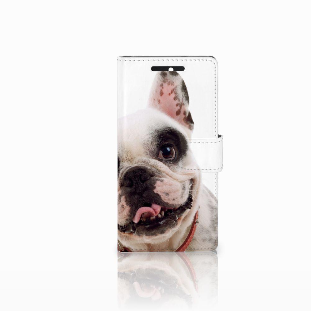 HTC Desire 628 Telefoonhoesje met Pasjes Franse Bulldog