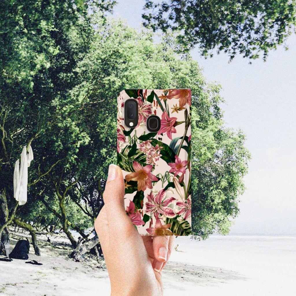 Samsung Galaxy A20e Smart Cover Flowers