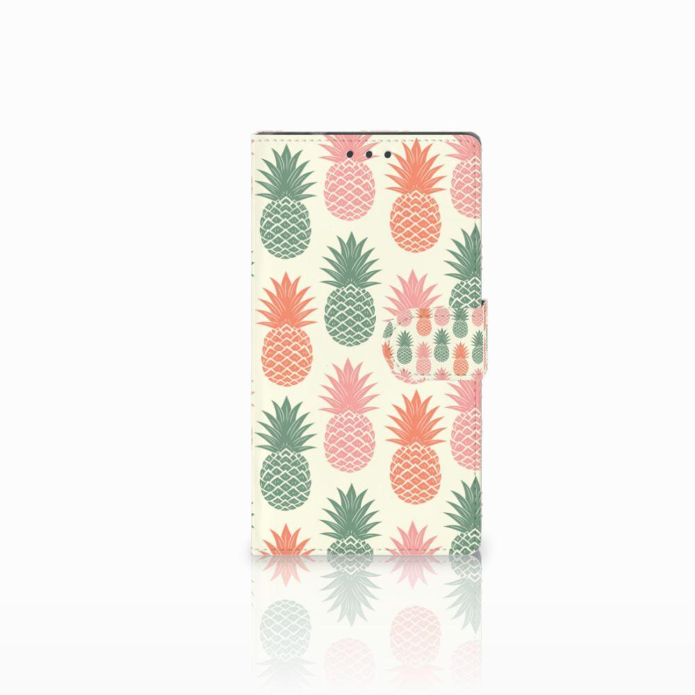 Samsung Galaxy Note 4 Boekhoesje Design Ananas