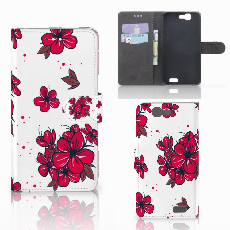 Huawei Ascend G7 Hoesje Blossom Red
