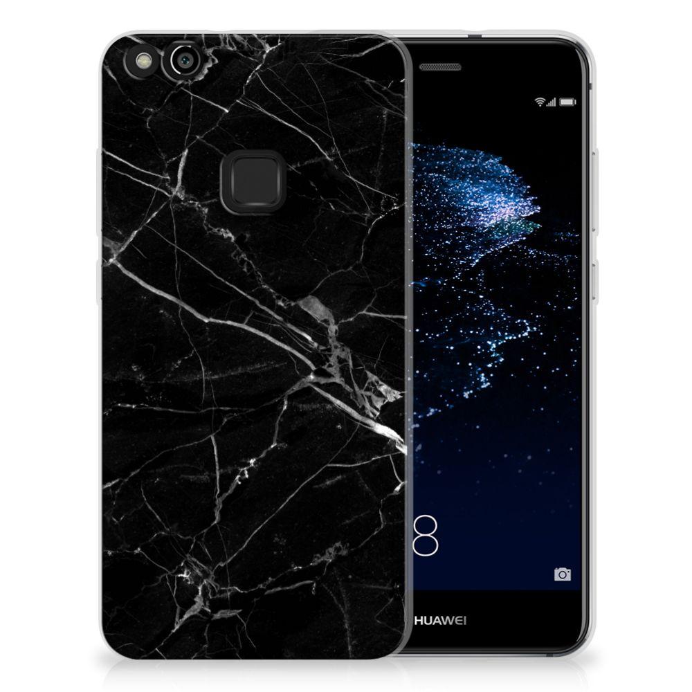 Huawei P10 Lite Uniek TPU Hoesje Marmer Zwart