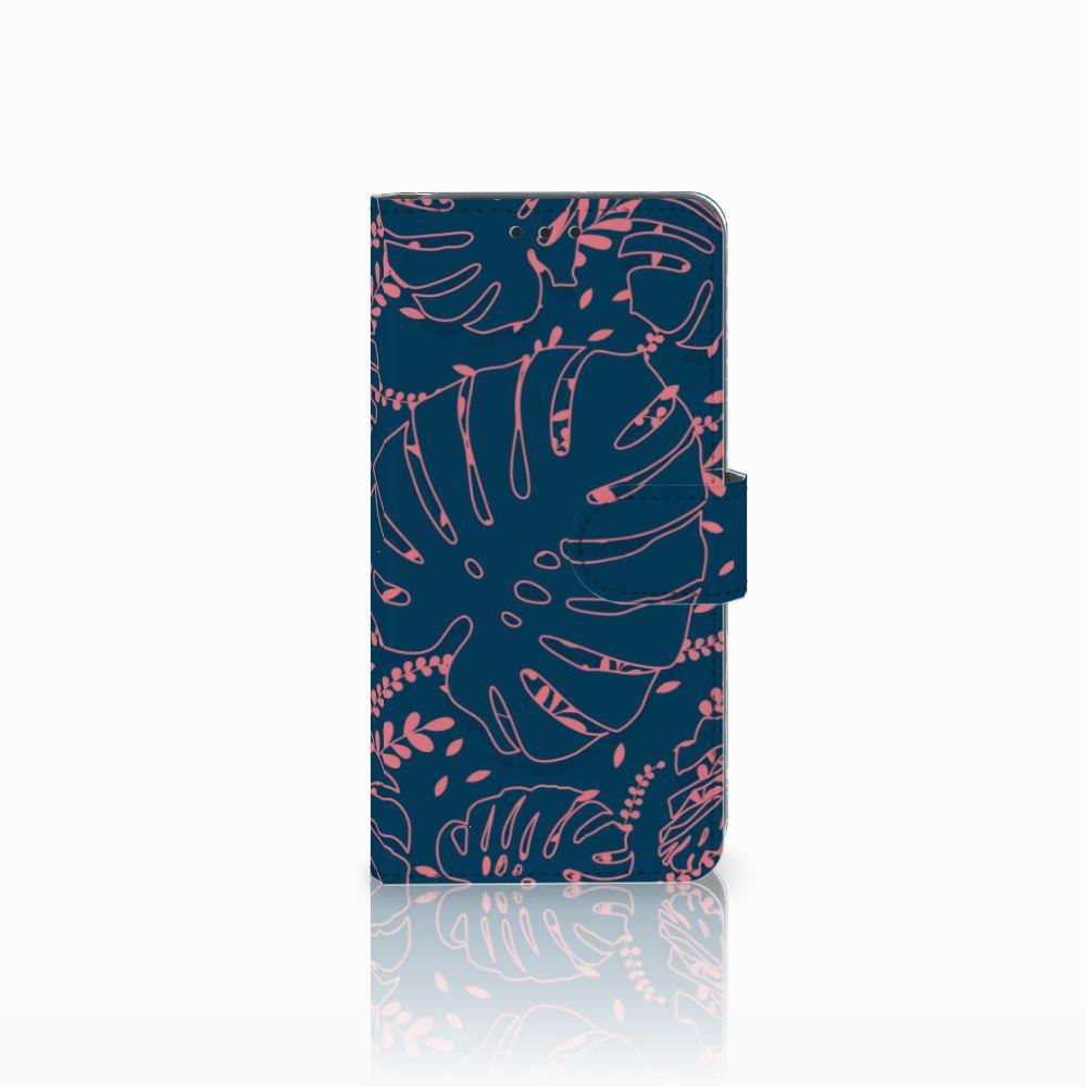 Samsung Galaxy A8 2018 Boekhoesje Design Palm Leaves