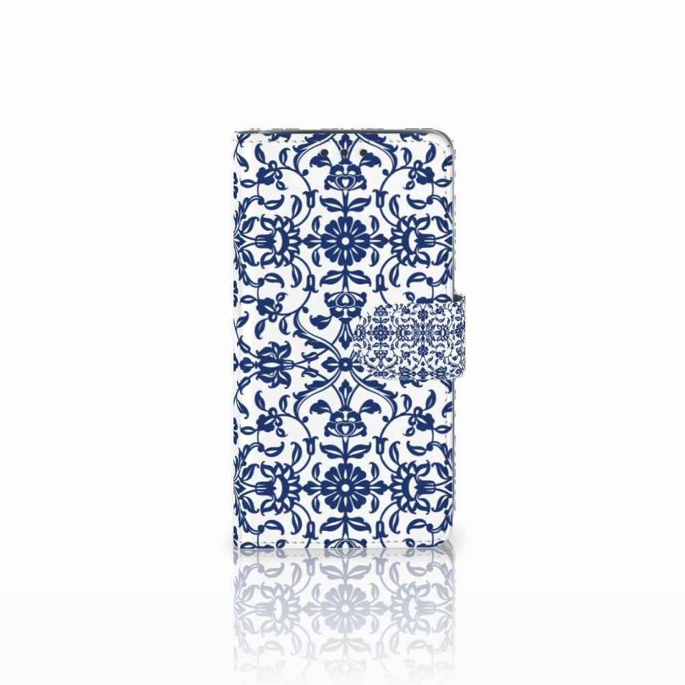 Samsung Galaxy J5 (2015) Boekhoesje Flower Blue