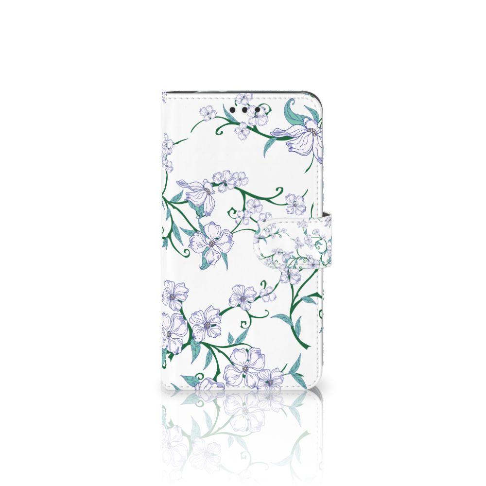 Motorola Moto Z2 Force Uniek Boekhoesje Blossom White