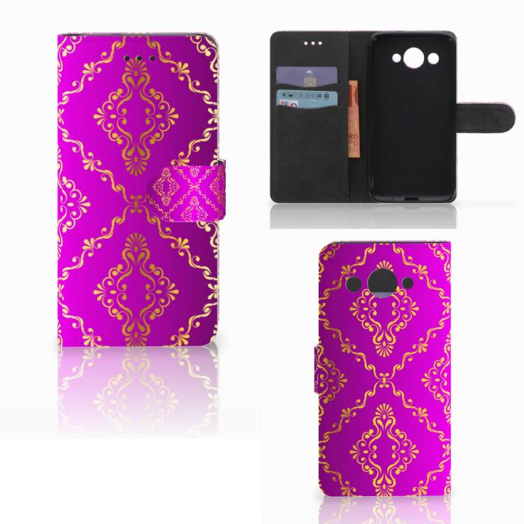 Wallet Case Huawei Y3 2017 Barok Roze