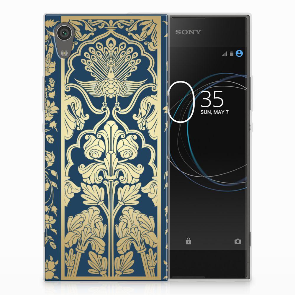 Sony Xperia XA1 TPU Hoesje Golden Flowers