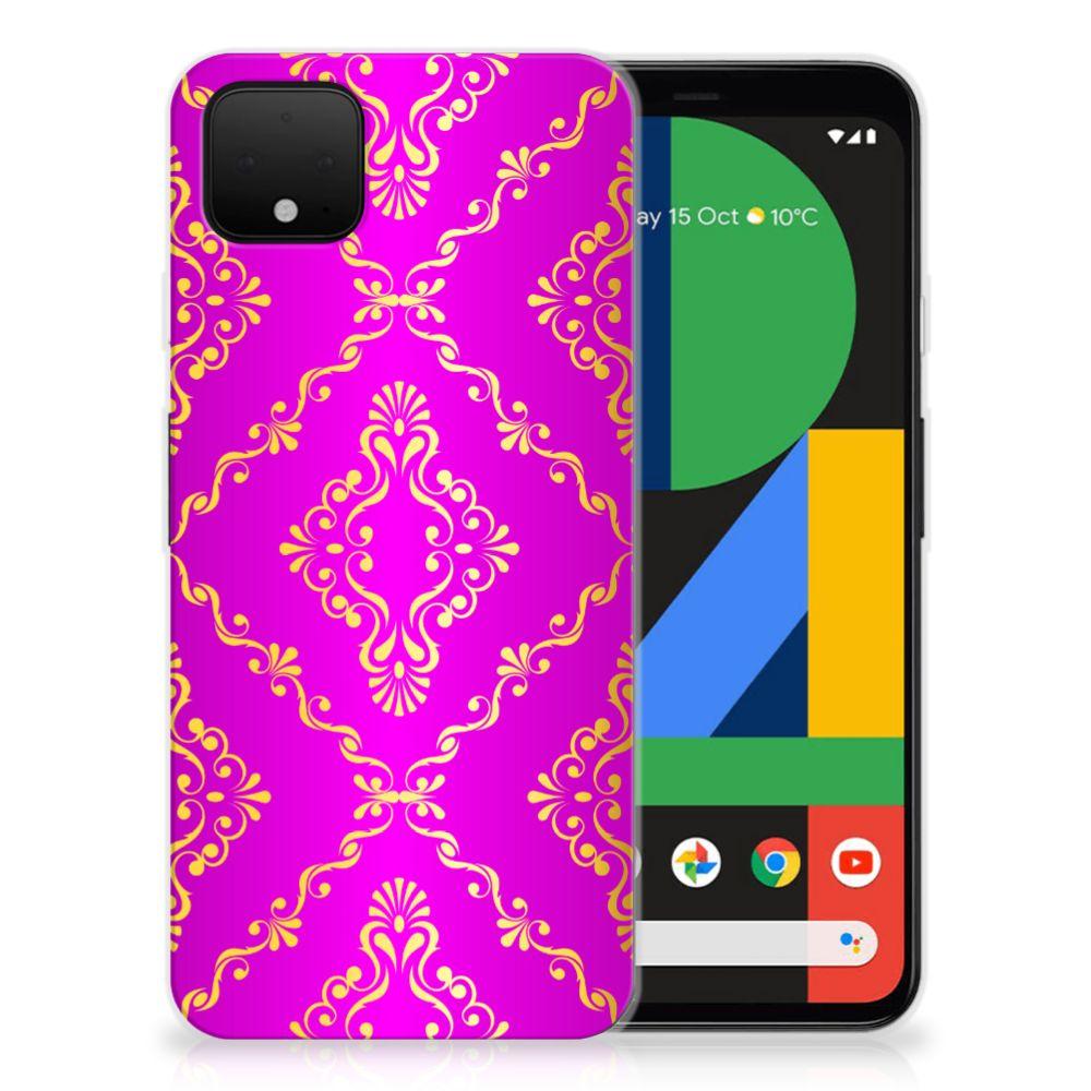 Siliconen Hoesje Google Pixel 4 XL Barok Roze