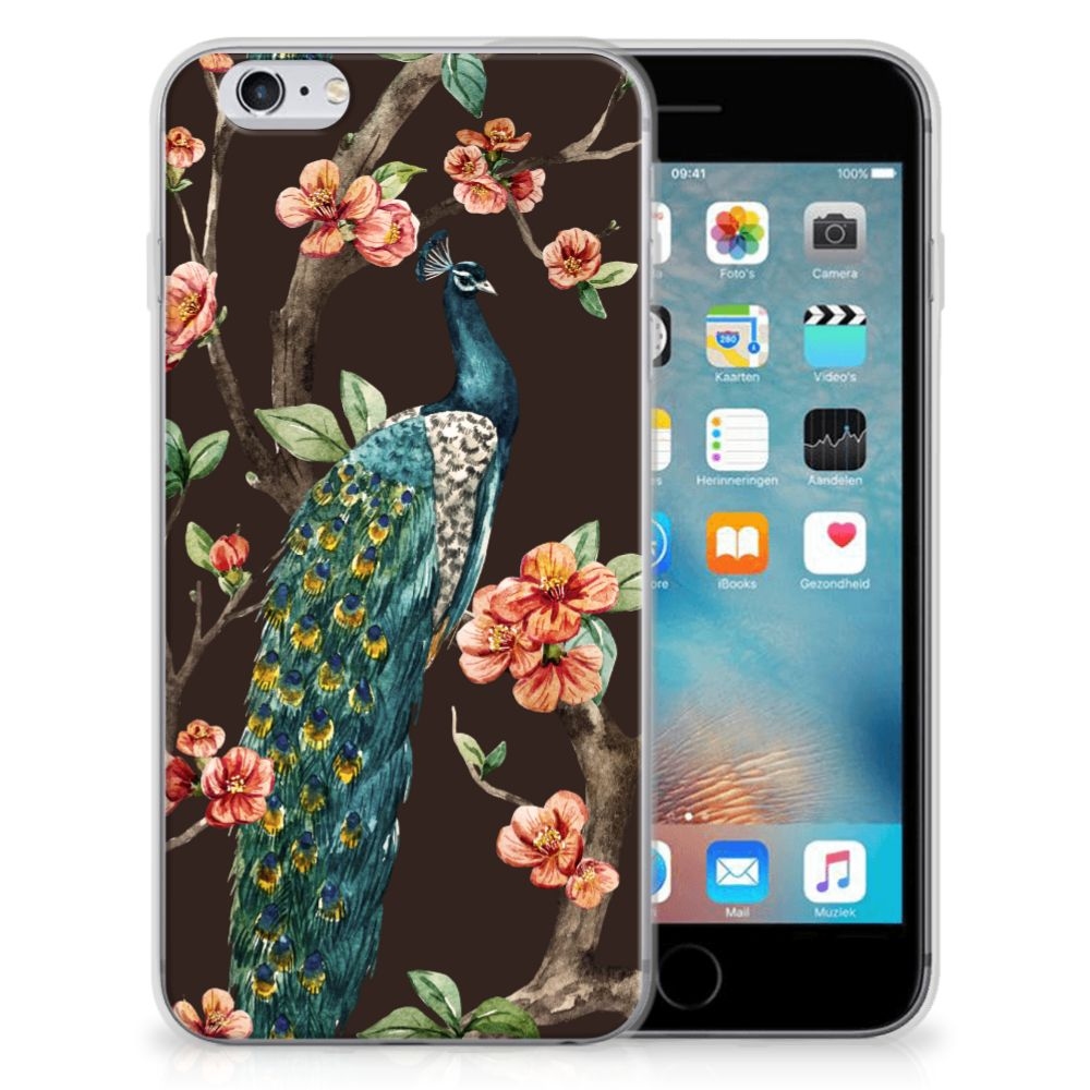 Apple iPhone 6 | 6s TPU Hoesje Pauw met Bloemen
