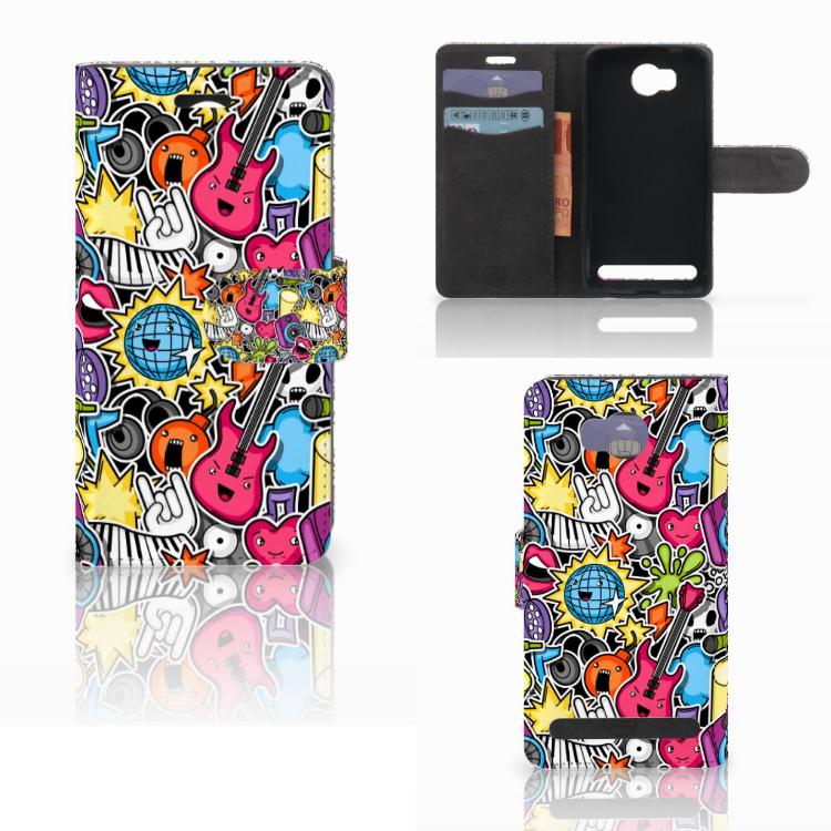Huawei Y3 2 | Y3 II Wallet Case met Pasjes Punk Rock