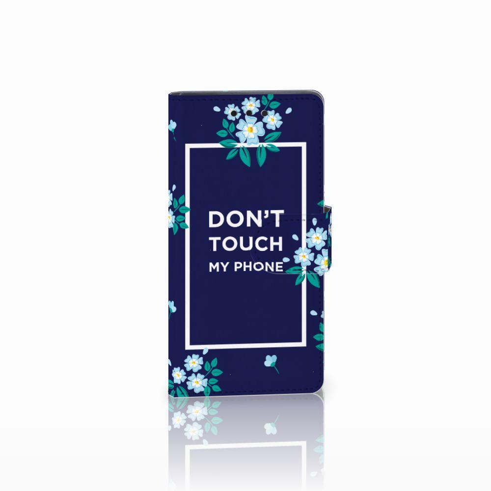 Sony Xperia Z5 Compact Boekhoesje Flowers Blue DTMP