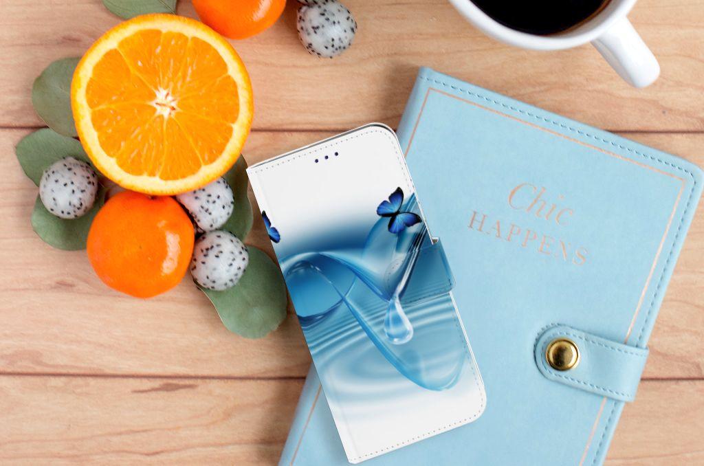 Samsung Galaxy A50 Telefoonhoesje met Pasjes Vlinders